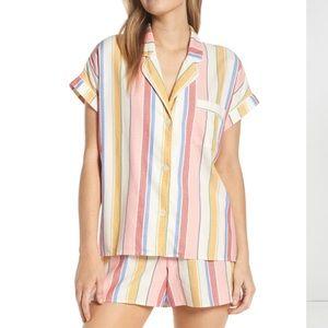 Madewell Rainbow Stripe Pajamas Size Small. NEW.